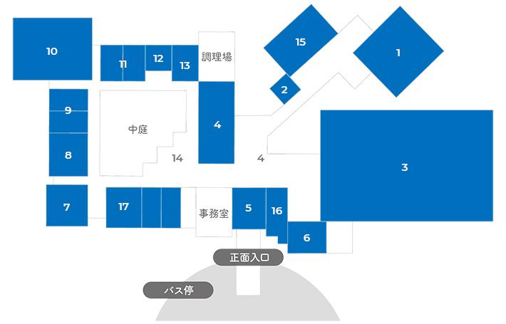 ふれあいの里センター館内マップ